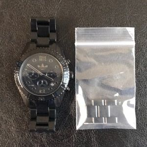 Pre Owned/Smoke Free - Adidas Brisbane Ceramic Black Watch